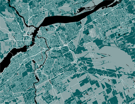 Vector map of the city of Ottawa, Ontario, Canada  イラスト・ベクター素材