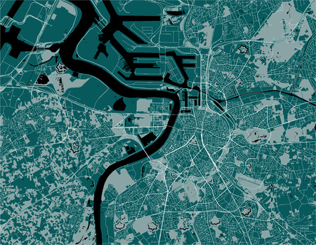 map of the city of Antwerp, Belgium Çizim