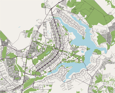vector map of the city of Brasilia, capital of Brazil