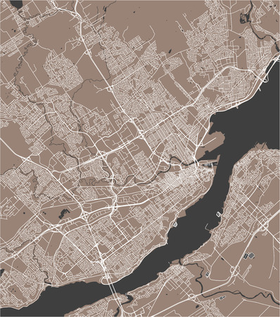 Vector map of the city of Quebec, Canada