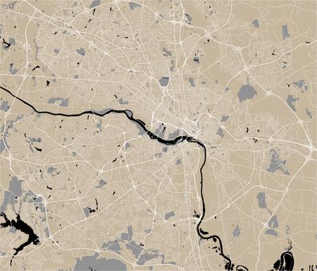 vector map of the city of Richmond, Virginia, USA
