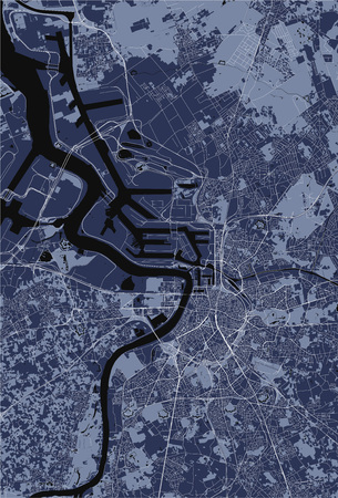 vector map of the city of Antwerp, Belgium