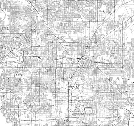 vector map of the city of Las Vegas, Nevada, USA