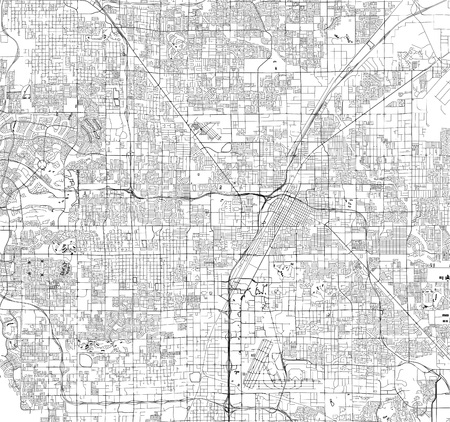 vector map of the city of Las Vegas, Nevada, USA