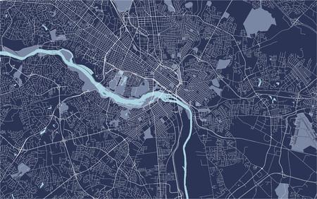 Carte vectorielle de la ville de Richmond, Virginie, USA