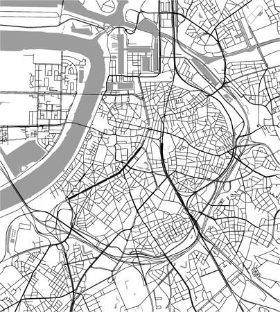 vectorkaart van de stad Antwerpen, België