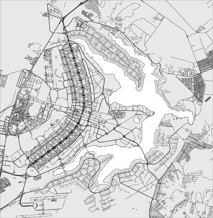 vector map of the city of Brasilia, capital of Brazil