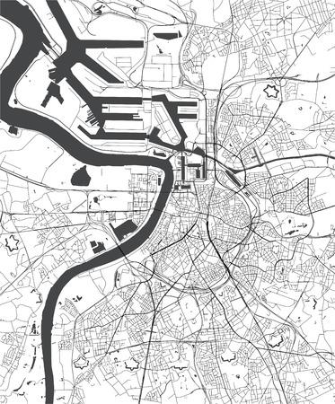 vector map of the city of Antwerp, Belgium