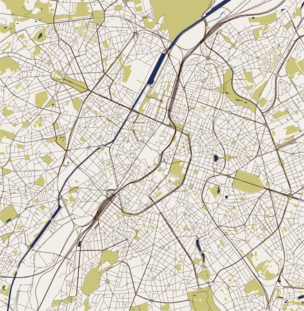 vector map of the city of Brussels, Belgium