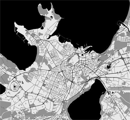 vector map of the city of Tallinn, Estonia Vektorgrafik