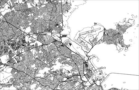 vector map of the city of Rio de Janeiro, Southeast, Brazil