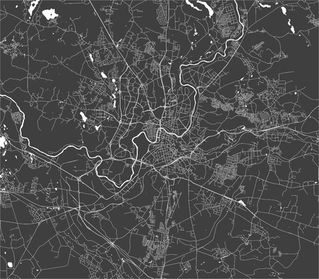 vector map of the city of Vilnius, Lithuania 向量圖像