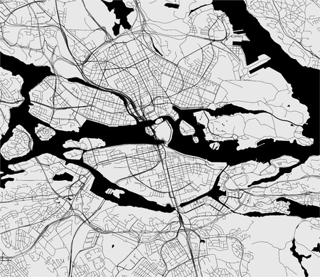 vector map of the city of Stockholm, Sweden 일러스트