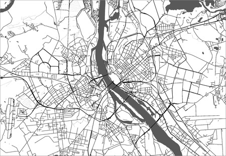 vector map of the city of Riga, Latvia