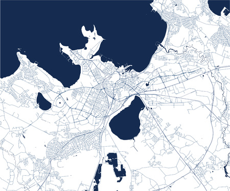 vector map of the city of Tallinn, Estonia 向量圖像