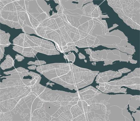 vector map of the city of Stockholm, Sweden Illustration