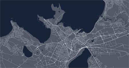 vector map of the city of Tallinn, Estonia