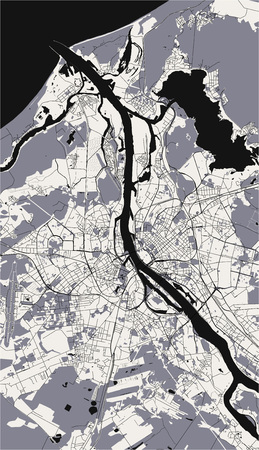 vector map of the city of Riga, Latvia