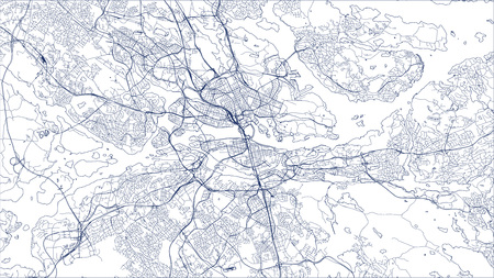 vector map of the city of Stockholm, Sweden Vetores