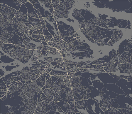 vector map of the city of Stockholm, Sweden Vectores