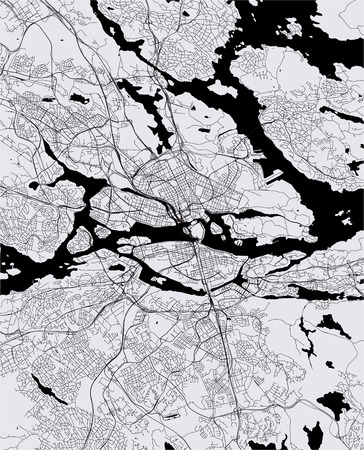 vector map of the city of Stockholm, Sweden Imagens - 115215903