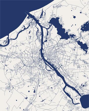 Vektorkarte der Stadt Riga, Lettland