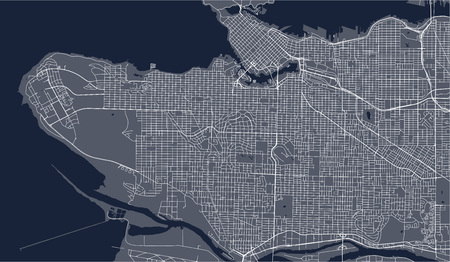 vector map of the city of Vancouver , Canada Ilustração