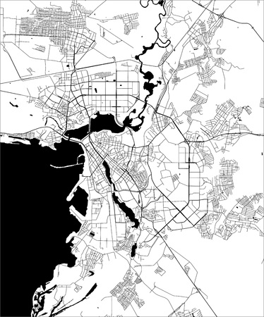 vector map of the city of Kazan, Tatarstan, Russia
