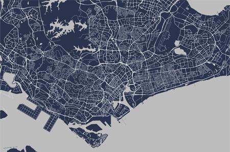 carte de la ville de Singapour, République de Singapour