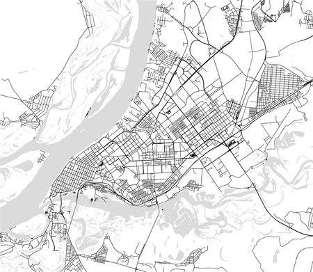 vector map of the city of Samara, Russia