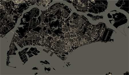 map of the city of Jacksonville, Florida, USA