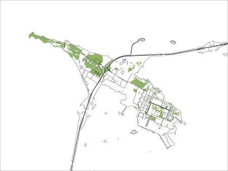 Vector map Kronstadt, Saint Petersburg Russia