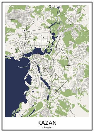Karte der Stadt Athen, Griechenland Vektorgrafik