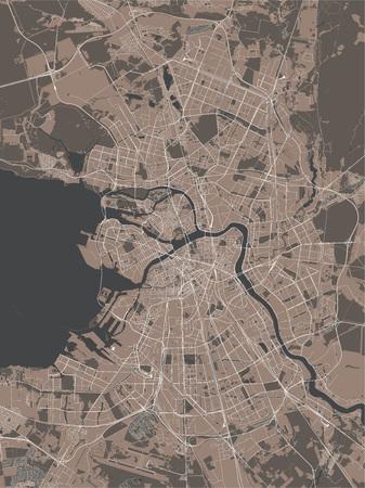 Vector map Saint Petersburg, Russia