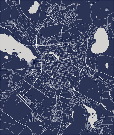 map of the city of Baltimore, Maryland, USA Stock Illustratie
