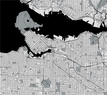 vector map of the city of Vancouver , Canada 일러스트