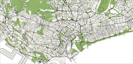 vector map of the city of Singapore, Republic of Singapore
