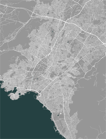 vector map of the city of Athens, Attica, Greece, Europe 일러스트