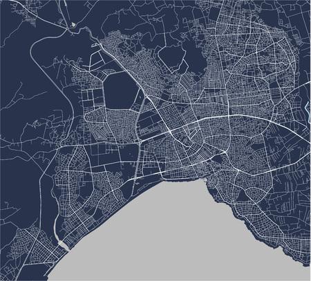 vector map of the city of Antalya, Turkey