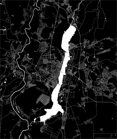 vector map of the city of Voronezh, Russia 일러스트