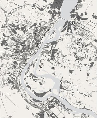 vector map of the city of Volgograd, Russia Ilustração