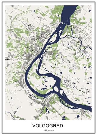 map of the city of Denver, Colorado, USA Ilustração