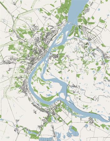 vector map of the city of Volgograd, Russia Illusztráció