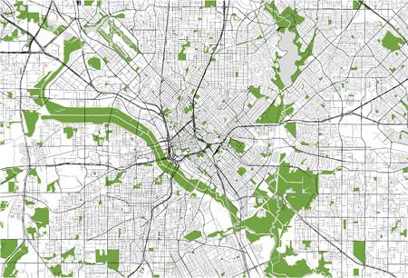 map of the city of Dallas, Texas, USA Vecteurs