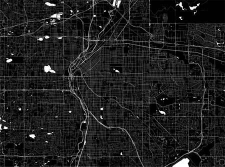 vector map of the city of Denver, Colorado, USA Çizim