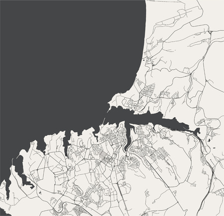 vector map of the city of Sevastopol, Crimea 일러스트