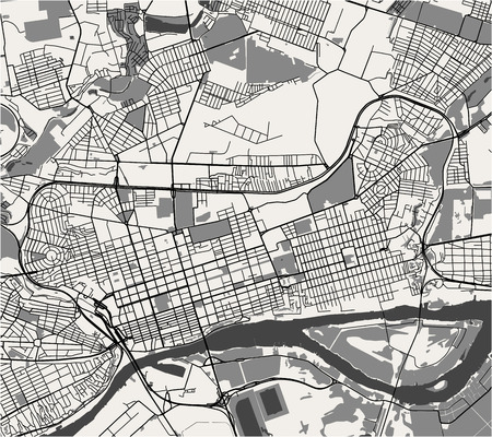 vector map of the city of Rostov-on-Don, Russia Vektorové ilustrace