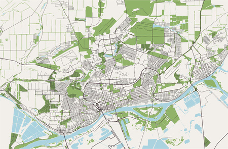 vector map of the city of Rostov-on-Don, Russia 일러스트