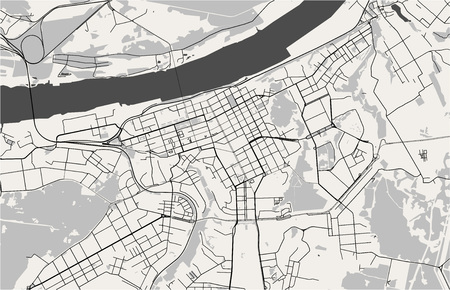 vector map of the city of Perm, Russia 일러스트