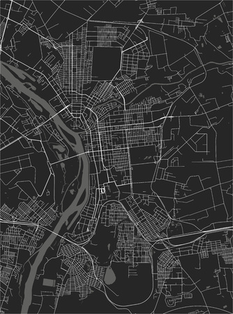 vector map of the city of Omsk, Russia